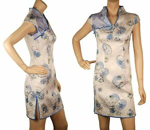 Collar Traditional Conmigo Dres Cotton Chinese Ch060 Mandarin Mini Umbrellaprint pzgqag