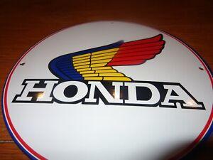 VINTAGE-HONDA-MOTORCYCLE-11-3-4-034-PORCELAIN-METAL-CAR-TRUCK-GASOLINE-amp-OIL-SIGN