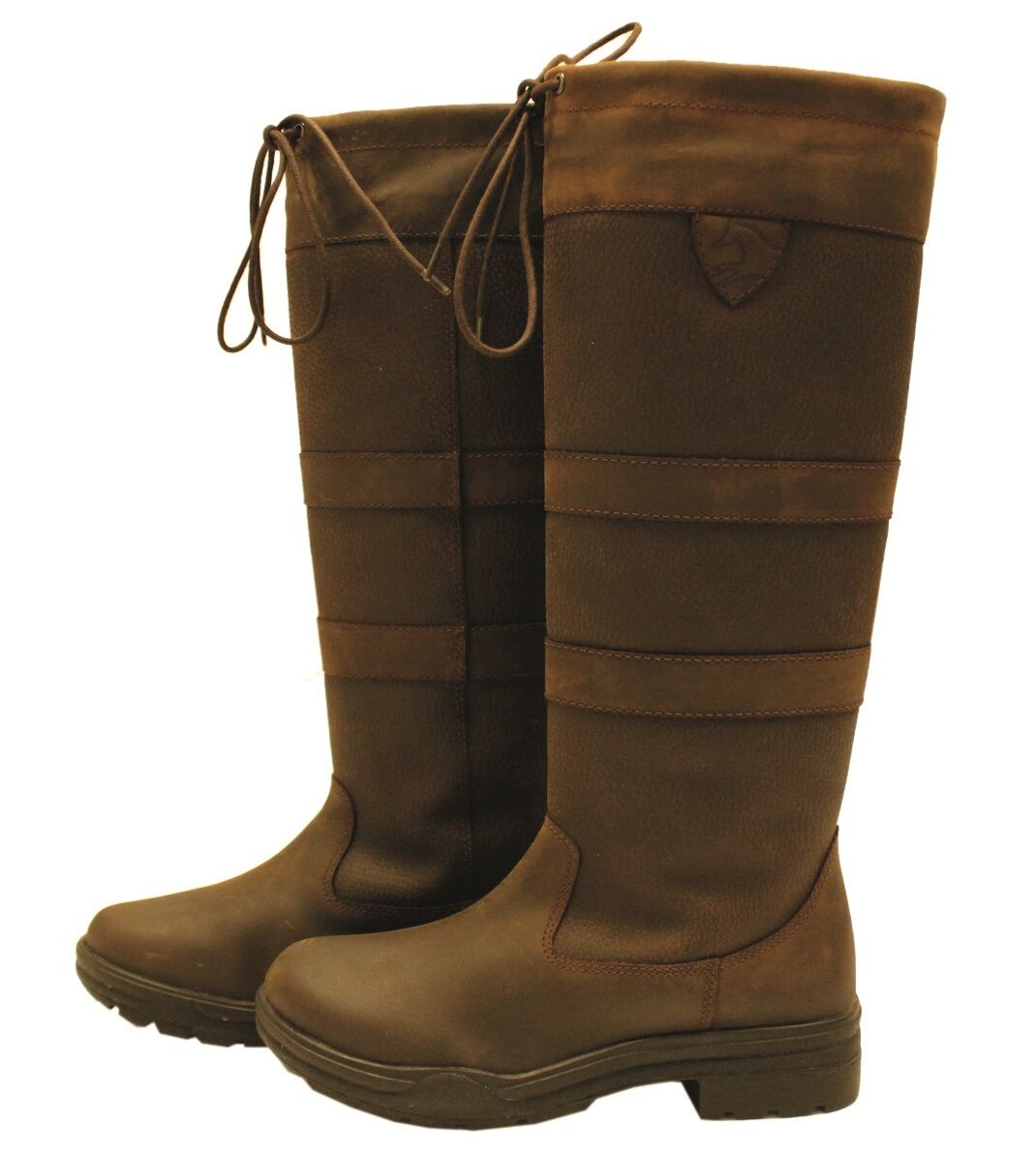 Horseware Long Country Boot Tall Waterproof Country  Yard Boots Brown  classic style