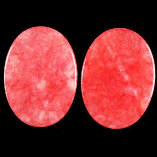 8Pcs 40g A Pink Jade Oval 25x18x6mm Cab Cabochon A-232JM