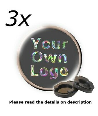 3 pairs of custom-made logo insert for Wind Fire Auto ghost shadow lights CLO-3