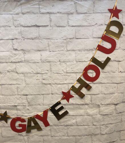 Personalised Gaye Holud Banner party decorations bunting Wedding bengali celebra