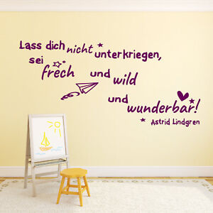 Wandtattoo fürs Kinderzimmer Zitate von Astrid Lindgren Kinder Baby ...