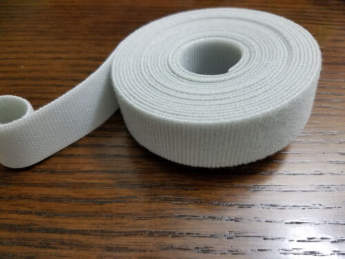 """Grey 4 yards VELCRO® Brand Reusable ONE-WRAP® Strap Double Sided 1/"""" X 12ft Lt"""