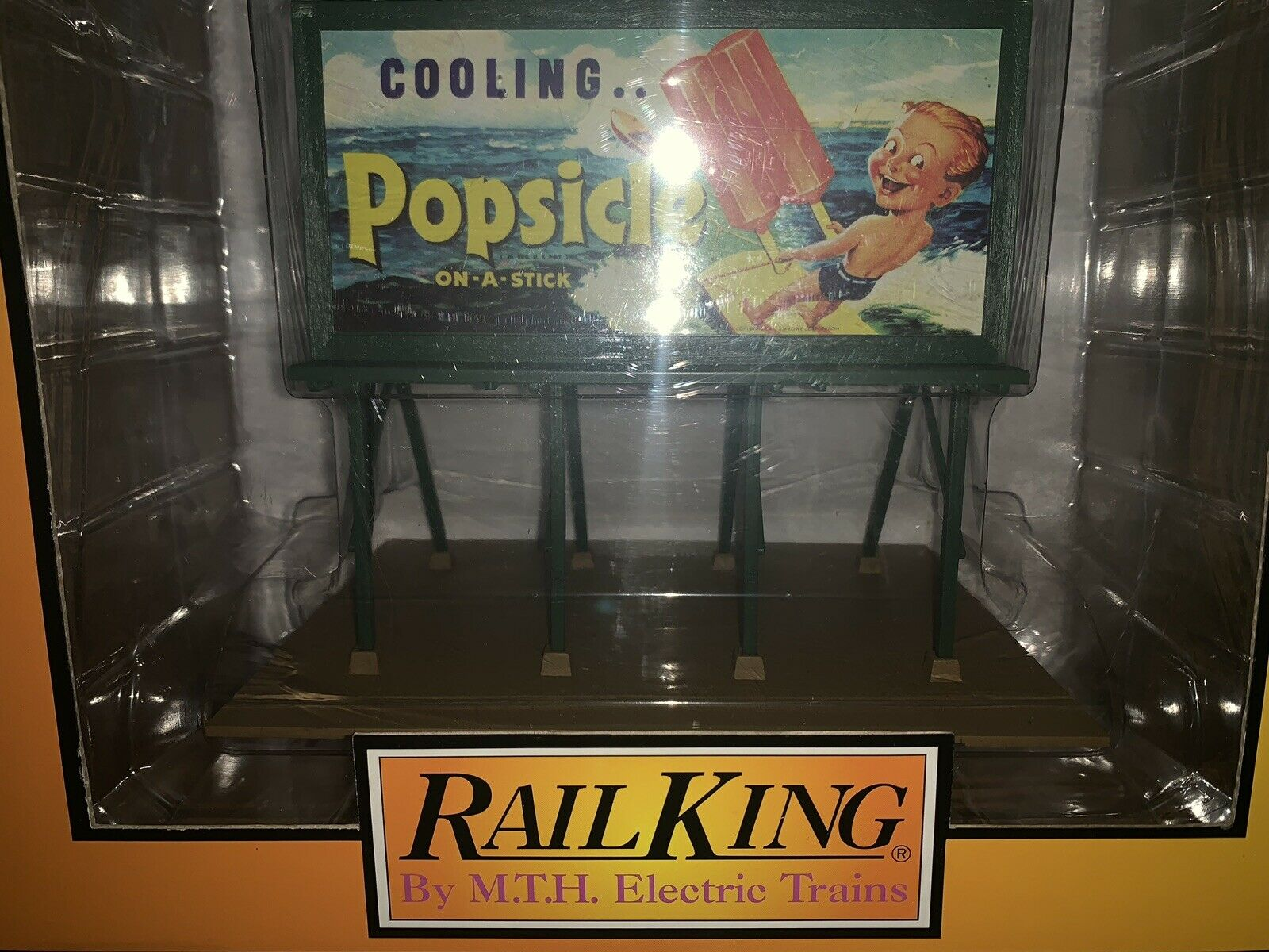 ✅MTH RAILKING POPSICLE LIGHTED BILLBOARD ACCESSORY NEW  FITS LIONEL K-LINE TRAIN