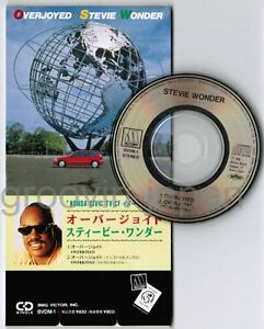 STEVIE-WONDER-Overjoyed-JAPAN-3-034-CD-SINGLE-BVDM-1-Free-S-amp-H-Honda-Civic-1990