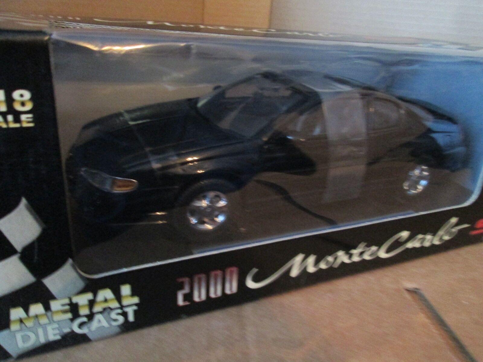 SUNSTAR 1 18 2000 Chevy Monte Carlo Ss Nuevo nero Detalles Bonitos