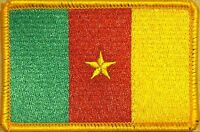Cameroon Flag Patch With Velcro® Brand Fastener Gold Border 4