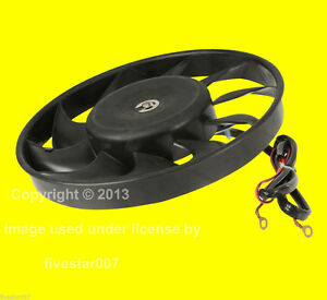 Left Auxiliary Aux Engine Cooling Fan Motor Assembly NEW For Volkswagen For Audi