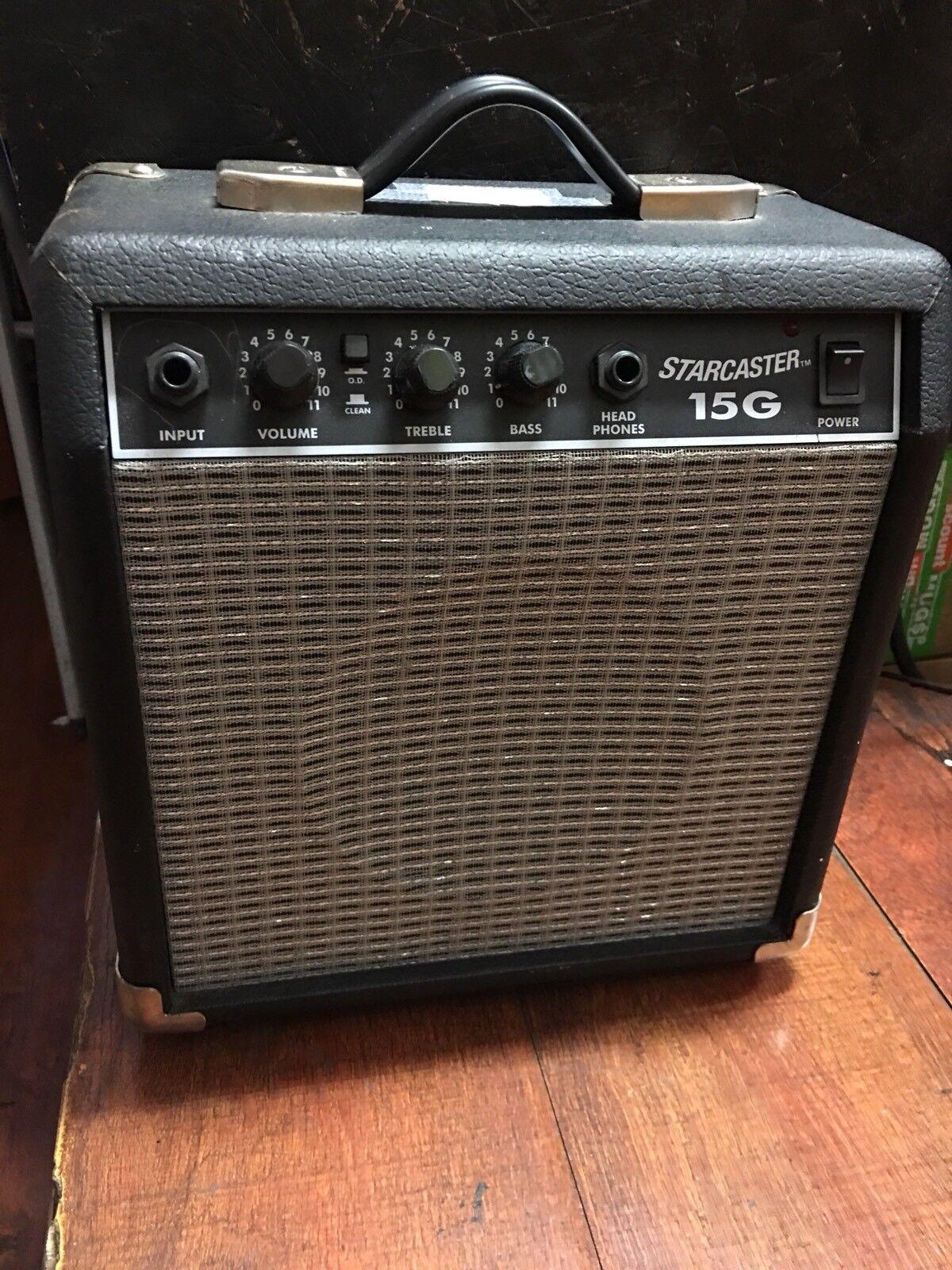 Starcaster Fender 15G Guitar Amp Input 120V-60Hz 28W Type PR357