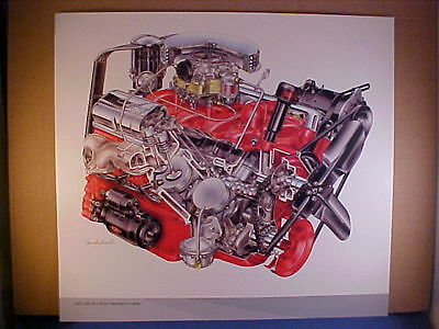 Chevrolet 350 V8 1967 Camaro SS L48 calendar sketch by David Kimble--EZ frame