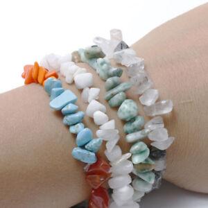 Unisex-Handmade-Wristband-Strand-Crystal-Beaded-Natural-Stone-Gravel-Bracelet