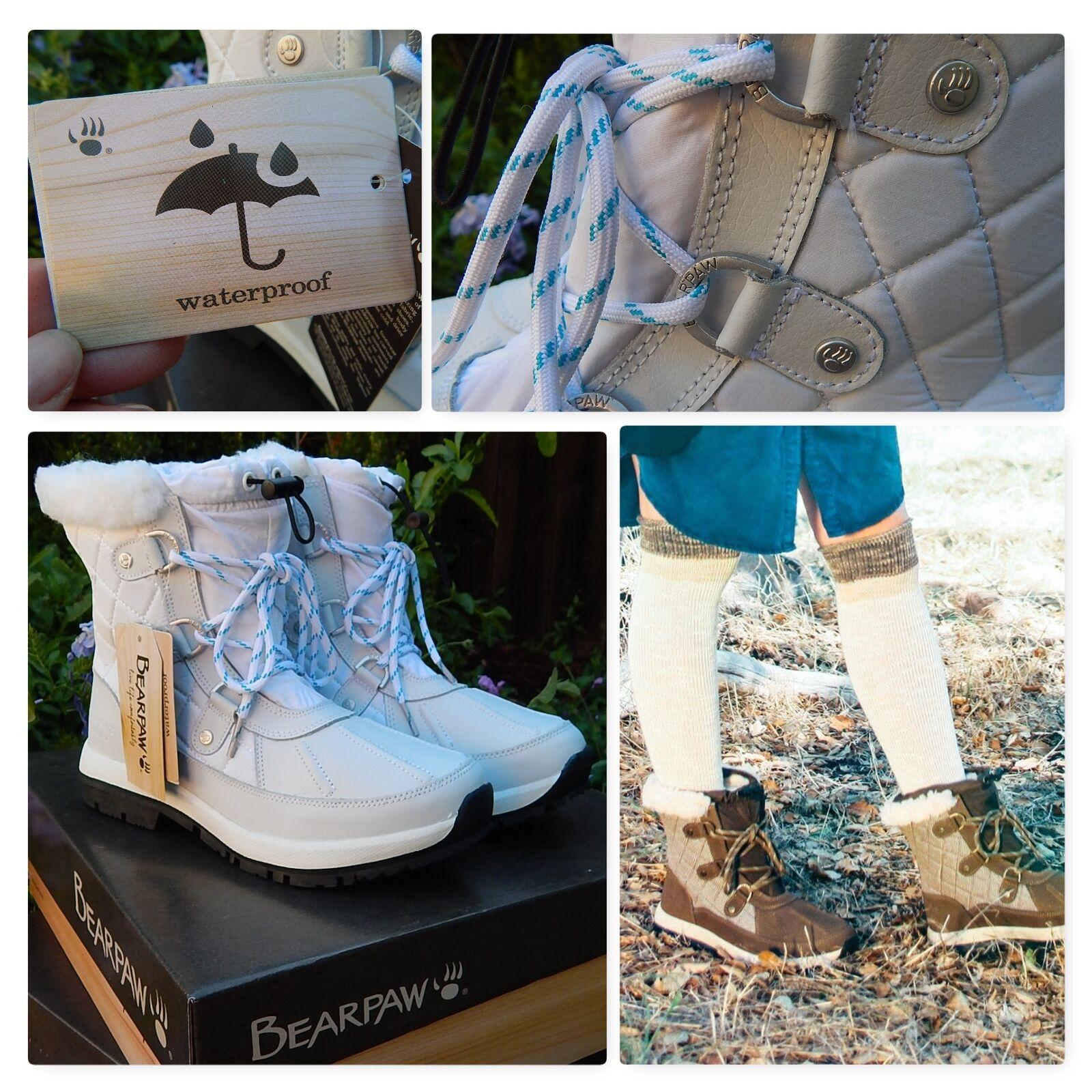 Nuevo En Caja blancoo Sumergible botas De De De Nieve  Bearpaw Bethany  lluvia de Piel de Oveja Piel  Talla 7,8,9  centro comercial de moda