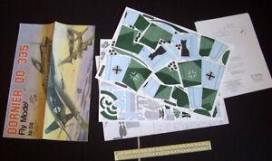 1990s Fly Model Poland Dornier Do 335 Fighter WW2 Cut-Out 1/33 Paper Model Kit