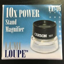 LL-10 Carson LumiLoupe 10X Power Stand Magnifier