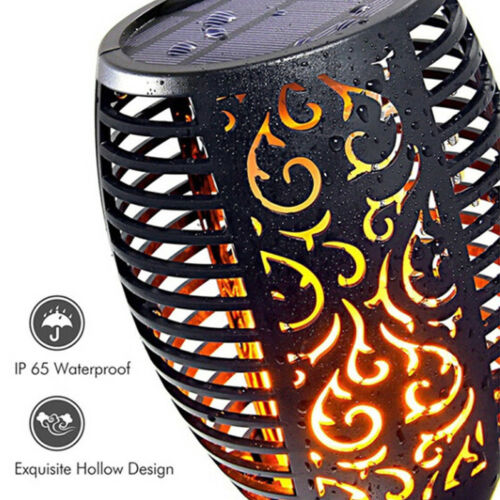 1-4X 96LED Solar Power Torch Light Flickering Flame Garden Waterproof Yard Lamp