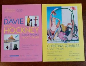 David-Hockney-Alan-Davies-Christina-Quarles-Hepworth-Gallery-Flyer-double-sided
