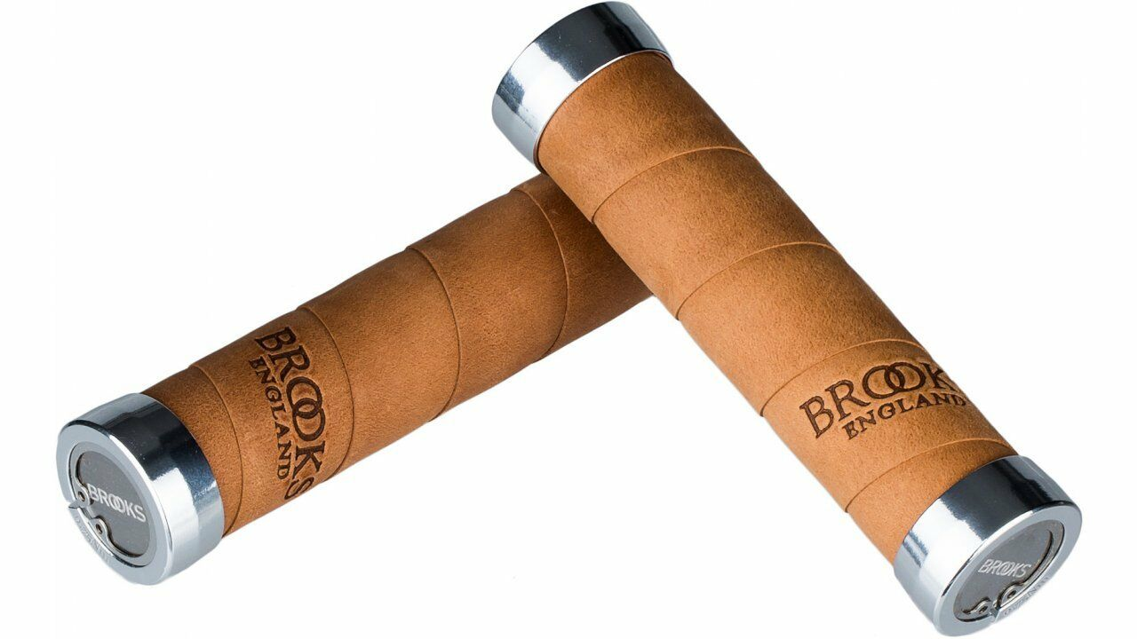 Brooks Poignée fixe cuir véritable dark-tan Vieux 130 130 mm