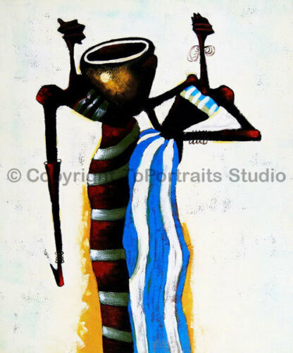 """African Women Original Hand Painted Modern Oil Painting on Canvas 30/"""" x 36/"""""""