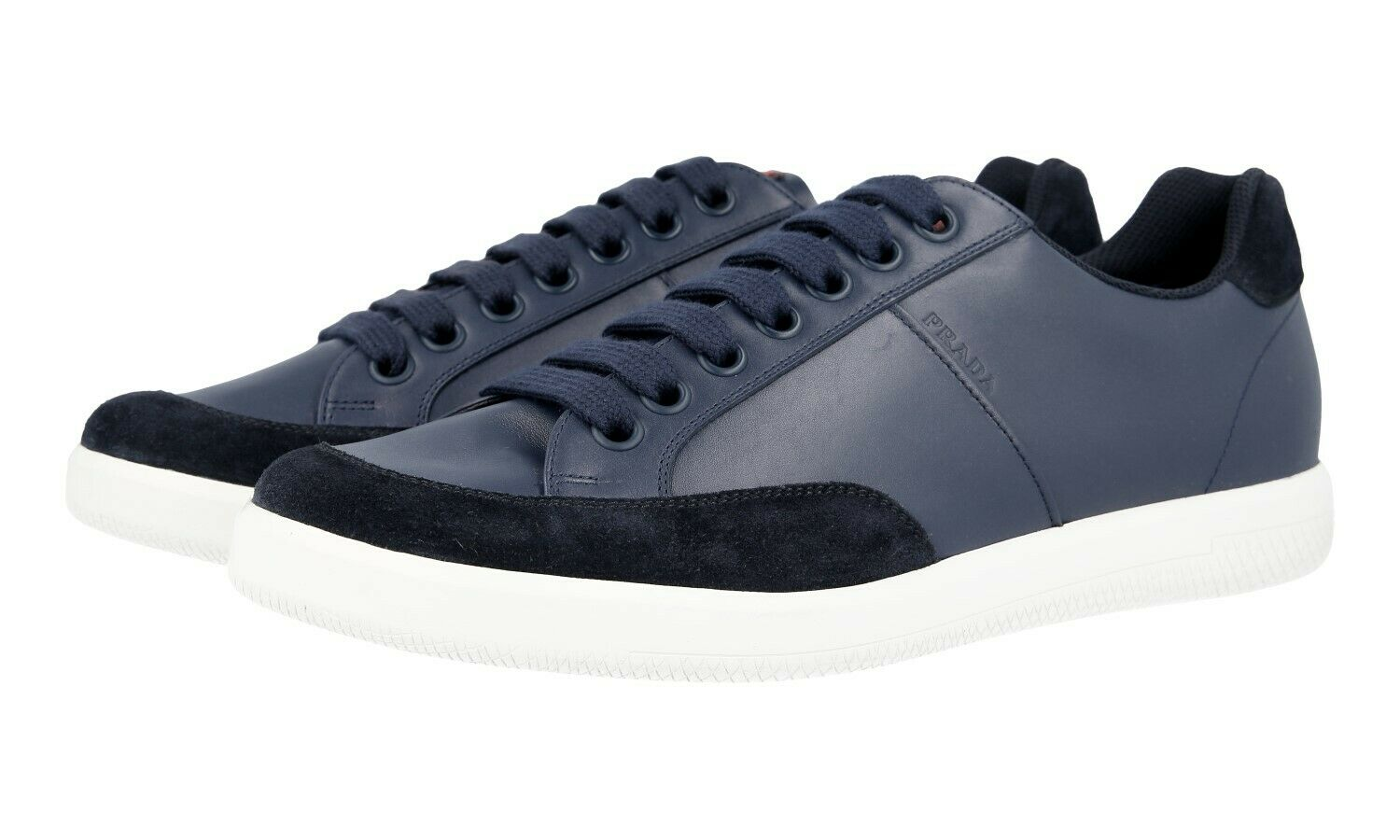 AUTH LUXURY PRADA SNEAKERS SHOES 4E3027 blueE NEW US 10