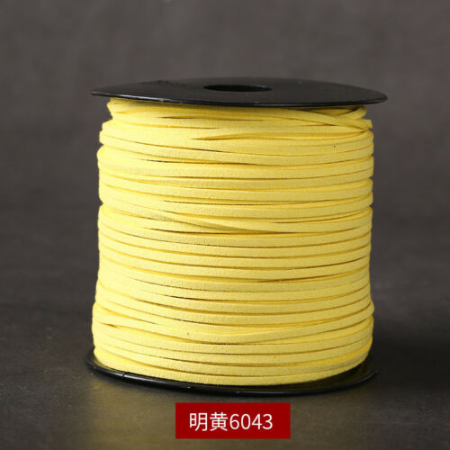 5Yards 2.9mm Width Korea Faux Suede Flat Leather Cord Rope Bracelet Necklace