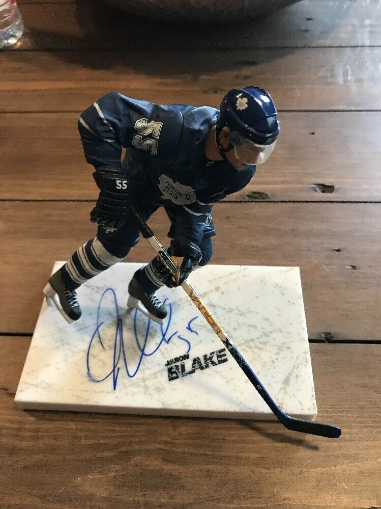Signed Jason Blake Mcfarlane  NHL  Series 17 Figure Autograph