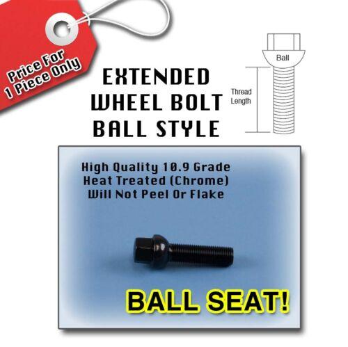 Black Ball Longer Extended Wheel Bolts LugsBenz14x1.550MM Thread