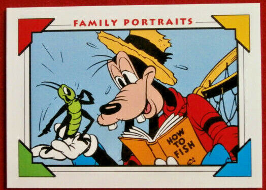 Disney COLLECTOR CARDS - Card #129 - GOOFY AND WILBUR - IMPEL 1991