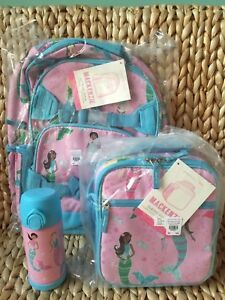 Pottery Barn Kids Large Backpack Mermaid Water Bottle
