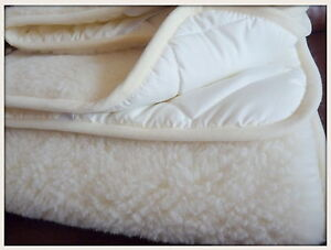 Merino Wool Amp Cotton Under Blanket Natural Bed Pad