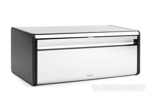 brabantia XL Brotkasten Edelstahl poliert mit Frontklappe und Aufhängeösen