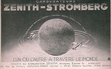Publicité carburateur Zenith Stromberg avion aéronautique aircraft