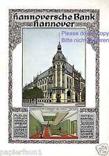 Hannoversche Bank Hannover XL Reklame 1911 Stahlkammer Tresor Änne Koken
