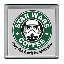 Star Wars Stormtrooper Parody Starbucks Coffee mug Coaster 4 X 4 inches