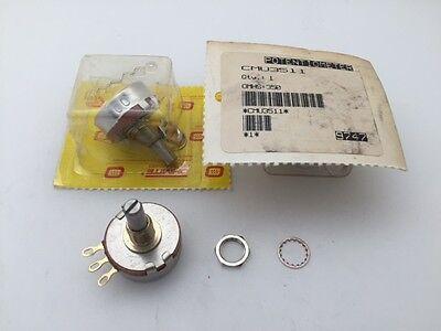 Rotary Metal Potentiometer 2 Watt 250K Ohm 10% CCU2541 Ohmite