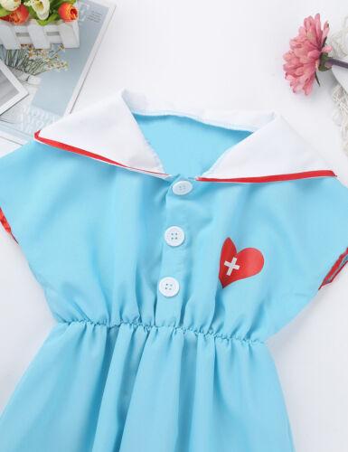 Unisex Kids Doctor Nurse Cosplay Costume Outfit Fancy Dress Halloween Party Wear