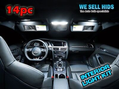 AUDI A4 B8 WHITE INTERIOR COMPLETE UPGRADE ERROR FREE LED LIGHT SET KIT