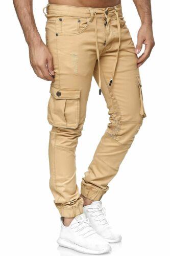 Homme Pantalon Cargo jogger taille élastique loisirs militaire décontracté