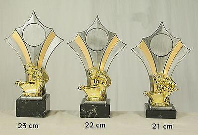 Billard Billiard Trophäe Pokal 3er set oder einzeln incl Beschriftung