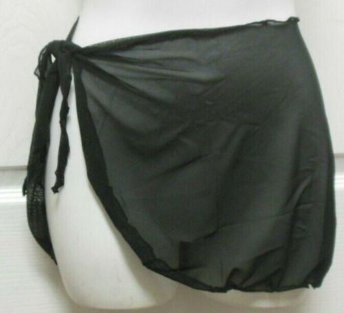 Black Micro Mesh Wrap Sarong Tie Skirt Dance Main Street Girls Child Sz NWT