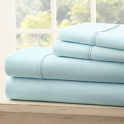 Soft Bedding Essentials Luxury 4 Piece Bed Sheet Set - 12 Colors!