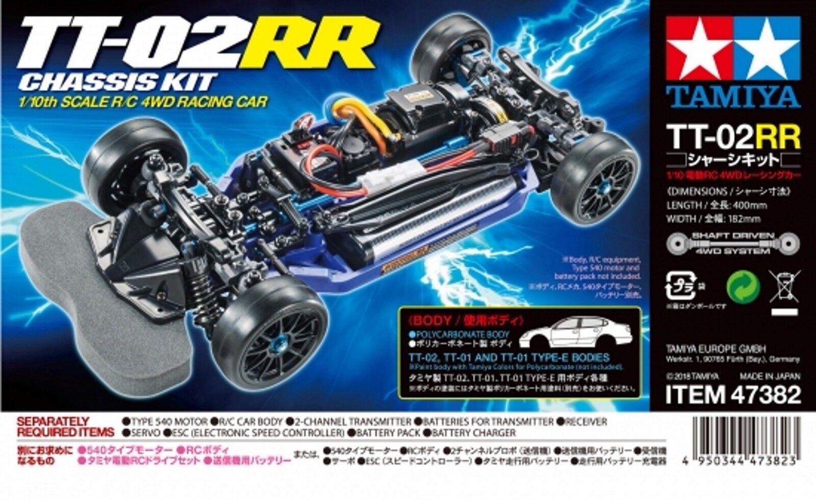Tamiya 1 10 Rc TT-02RR Chassis Set Tuning- Kit, New Version 47382