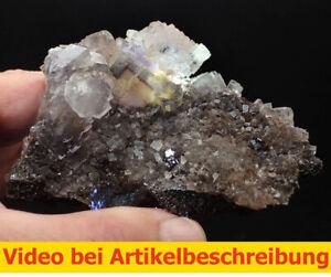 7602-Fluorit-Sphalerit-ca8-4-10cm-Minerva-Mine-USA-Illinois-Cave-in-Rock-MOVIE