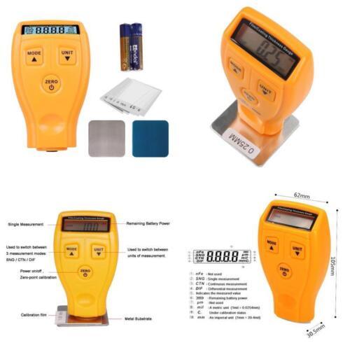 0~71 Digital Automotive Film Lcd Measuring 0~1.80Mm Coating Thickness Gauge