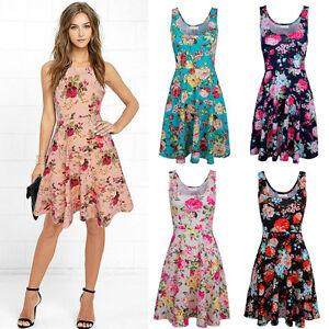 Women-Boho-Long-Maxi-Dress-Ladies-Cocktail-Party-Evening-Floral-Beach-Sundress