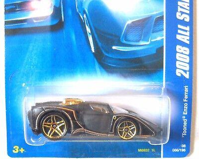 066 Tooned Enzo Ferrari Hot Wheels 2008 All Stars 1//64 scale diecast car no