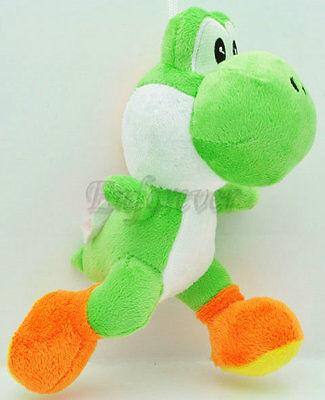 """8"""" New Super Mario running green YOSHI Plush Doll^MU115"""