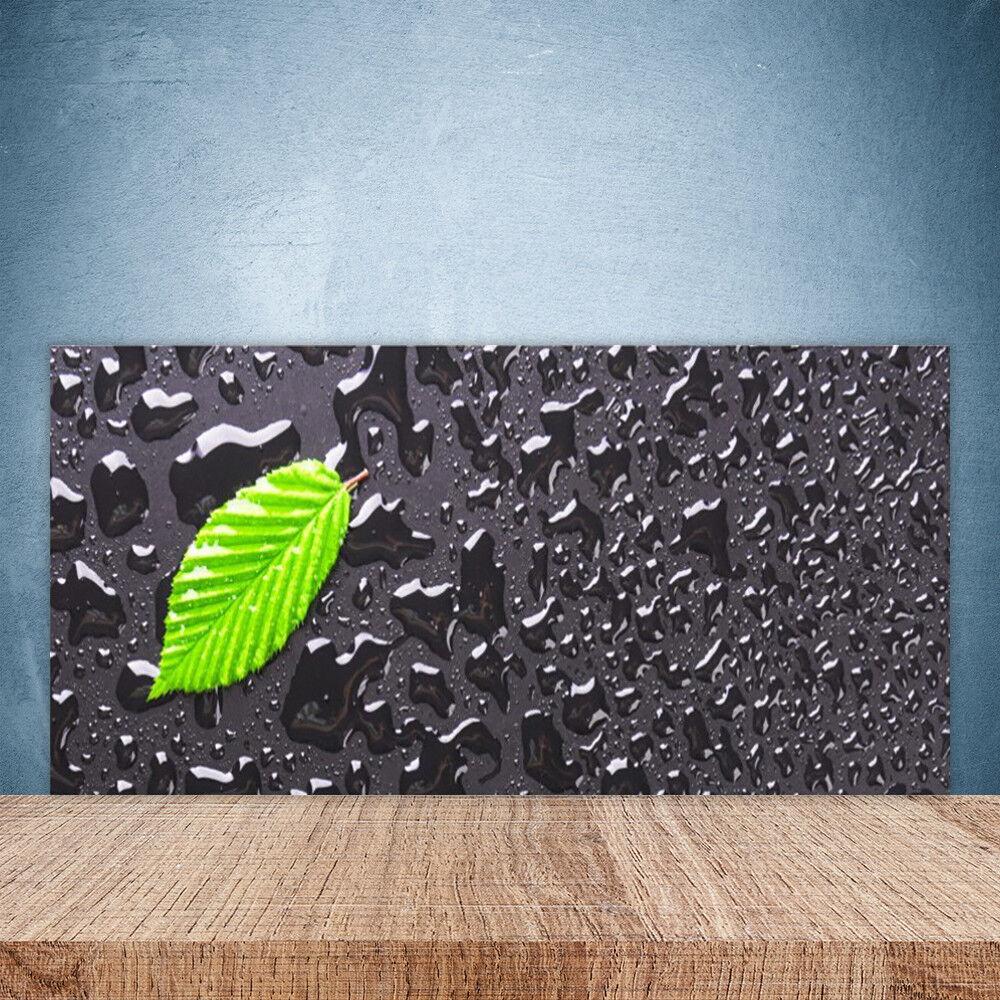 Crédence de cuisine en verre Panneau Paroi 100x50 Art Feuille