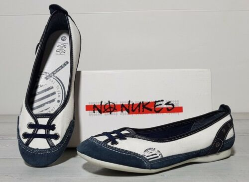 9 da 25 Us 40 Uk scarpe non taglia cm donna 7 Bianco 8 Ballerine nuke Blu Nuove SvC7qwR