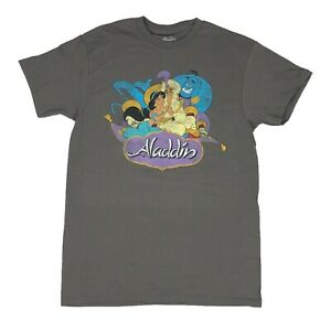 Disney-Men-039-s-T-Shirt-Aladdin-Jasmine-Genie-Distressed-Graphic-Tee